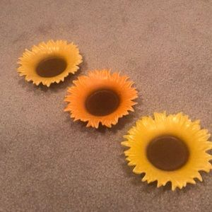 Party Lite Set of 3 Sunflower Candle Holders
